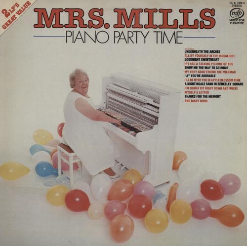 Mrs. Mills Piano Party Time 2-LP vinyl record set (Double Album) UK MMQ2LPI753972