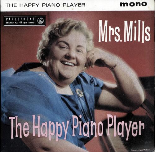"Mrs. Mills The Happy Piano Player 7"" vinyl single (7 inch record) UK MMQ07TH569555"