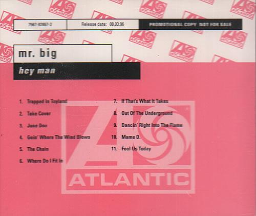 Mr Big (US) Hey Man CD album (CDLP) German MRBCDHE65124