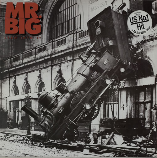 Mr Big (US) Lean Into It - US No 1 Hit sticker vinyl LP album (LP record) German MRBLPLE75324