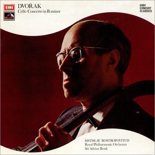 Mstislav Rostropovich Dvorák: Cello Concerto In B Minor - 1st vinyl LP album (LP record) UK N64LPDV483030