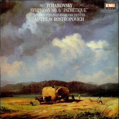 Mstislav Rostropovich Symphony No. 6 in B minor, Op. 74 'Pathetique' vinyl LP album (LP record) UK N64LPSY532052
