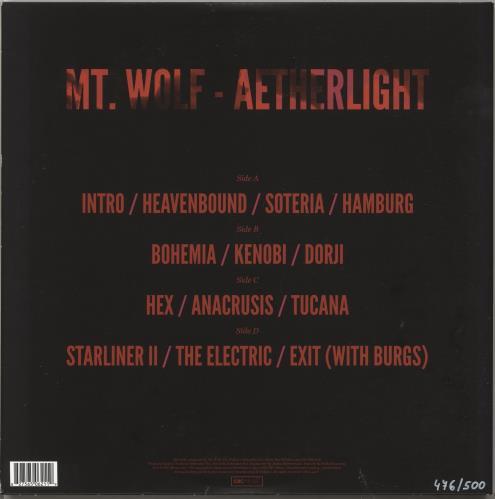 Mt. Wolf Aetherlight - Autographed 2-LP vinyl record set (Double Album) UK Q2M2LAE706012