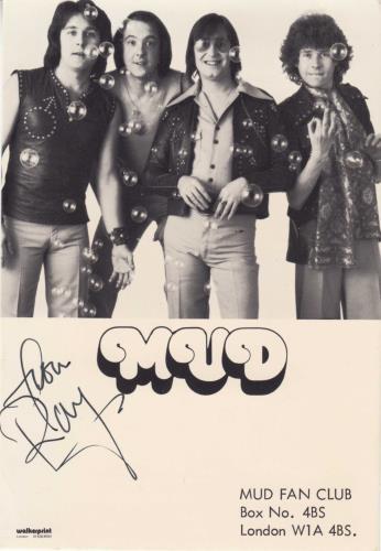 Mud Signed Photographs photograph UK MD.PHSI740453