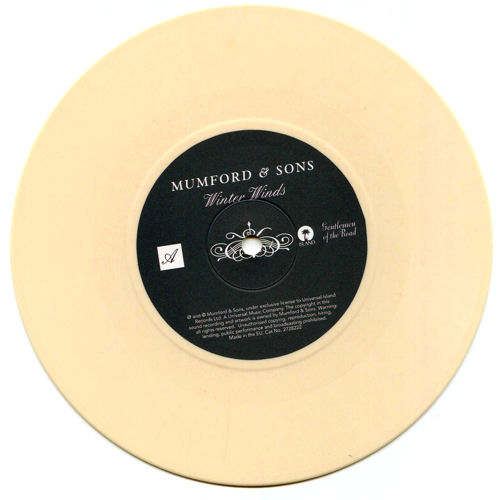 "Mumford & Sons Winter Winds 7"" vinyl single (7 inch record) UK M3D07WI491161"