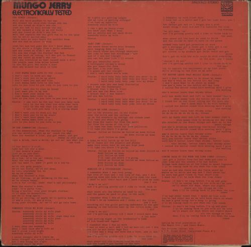 Mungo Jerry Electronically Tested - EX vinyl LP album (LP record) UK MUNLPEL710148