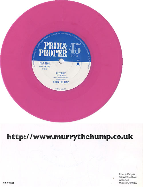 "Murray The Hump Silver Suit - Pink Vinyl 7"" vinyl single (7 inch record) UK N4R07SI623412"