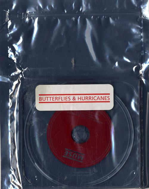 "Muse Butterflies & Hurricanes - Static Shield Sleeve CD single (CD5 / 5"") UK USEC5BU302306"