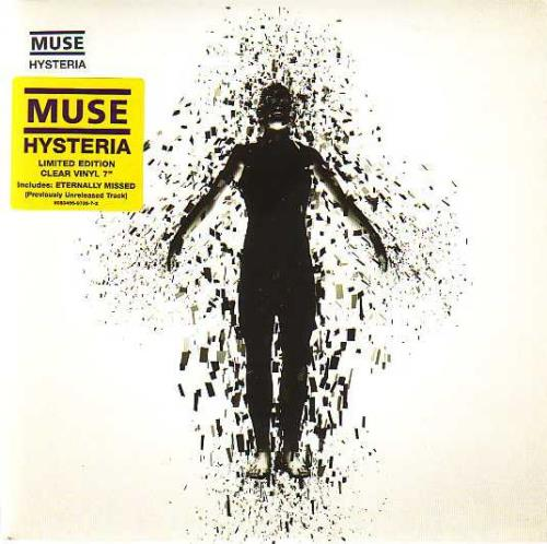 "Muse Hysteria - Clear Vinyl 7"" vinyl single (7 inch record) UK USE07HY266892"