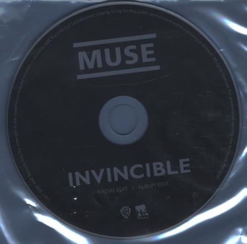 "Muse Invincible CD single (CD5 / 5"") UK USEC5IN398099"