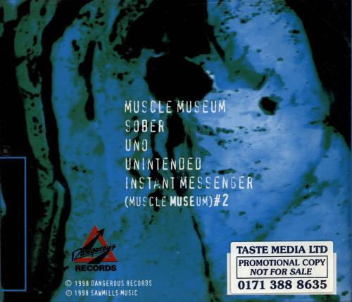 "Muse Muscle Museum EP - 1st issue CD single (CD5 / 5"") UK USEC5MU152954"