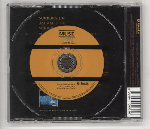 "Muse Sunburn - CD1 CD single (CD5 / 5"") UK USEC5SU158512"