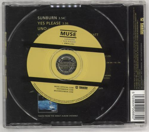 "Muse Sunburn - CD2 CD single (CD5 / 5"") UK USEC5SU198219"