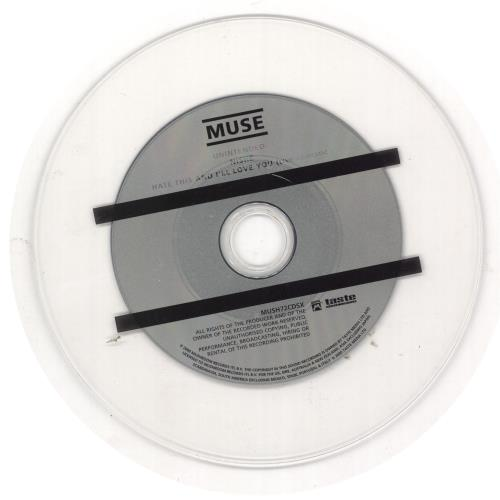 "Muse Unintended CD single (CD5 / 5"") UK USEC5UN420005"