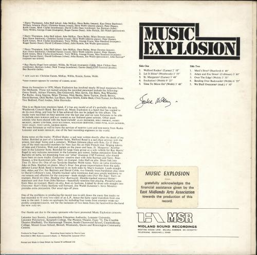 Music Explosion Music Explosion vinyl LP album (LP record) UK Q80LPMU709495