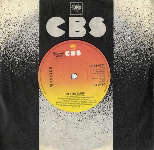 "Musique In The Bush 7"" vinyl single (7 inch record) UK M0S07IN558707"