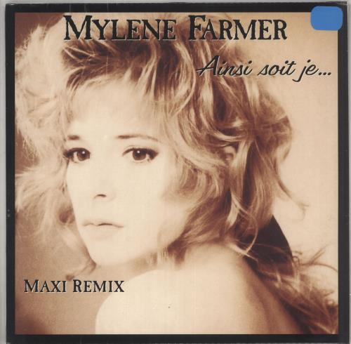 "Mylene Farmer Ainsi Soit Je... - Orange Vinyl - Sealed 12"" vinyl single (12 inch record / Maxi-single) French MYL12AI739939"