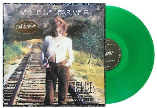 "Mylene Farmer California Remixes - Double Pack - Green Vinyl 12"" vinyl single (12 inch record / Maxi-single) French MYL12CA705920"