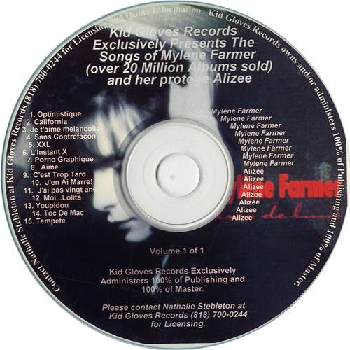 Mylene Farmer Kid Gloves Exclusively Presents The Songs Of Mylene Farmer CD album (CDLP) US MYLCDKI558757