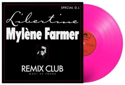 "Mylene Farmer Libertine - Remix Club - Pink Vinyl - Sealed 12"" vinyl single (12 inch record / Maxi-single) French MYL12LI708420"