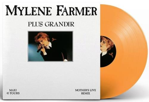 "Mylene Farmer Plus Grandir - Live - Orange Vinyl 12"" vinyl single (12 inch record / Maxi-single) French MYL12PL705931"