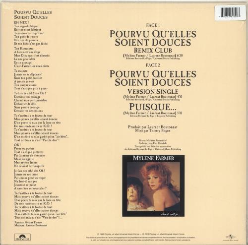 "Mylene Farmer Pourvu Qu'elles Soient Douces - Orange Vinyl 12"" vinyl single (12 inch record / Maxi-single) French MYL12PO705926"