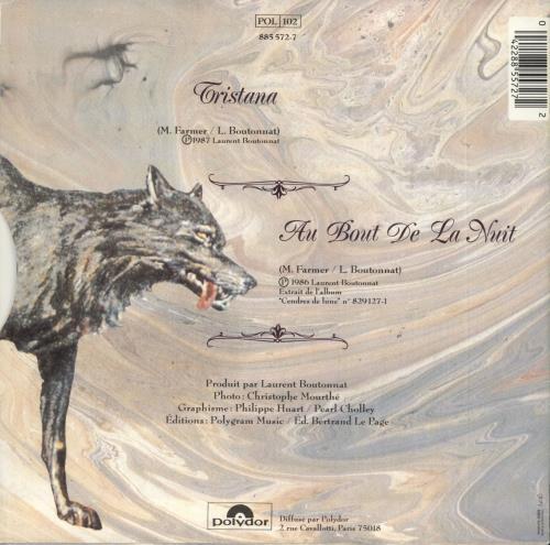 "Mylene Farmer Tristana 7"" vinyl single (7 inch record) French MYL07TR11985"