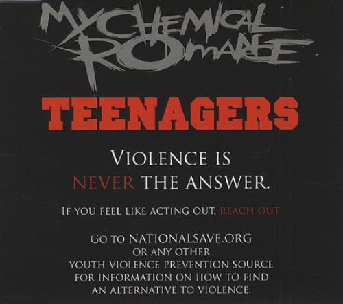 "My Chemical Romance Teenagers CD single (CD5 / 5"") UK MAPC5TE409122"