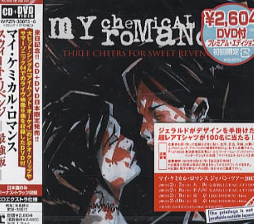 My Chemical Romance Three Cheers For Sweet Revenge 2-disc CD/DVD set Japanese MAP2DTH312935