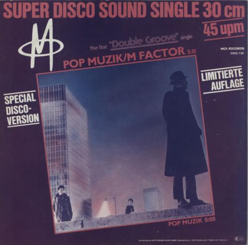 "M Pop Musik 12"" vinyl single (12 inch record / Maxi-single) German -M-12PO601370"