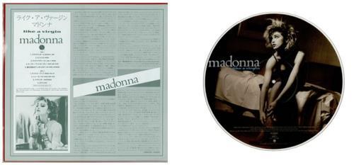 Madonna Like A Virgin picture disc LP (vinyl picture disc album) Japanese MADPDLI556084