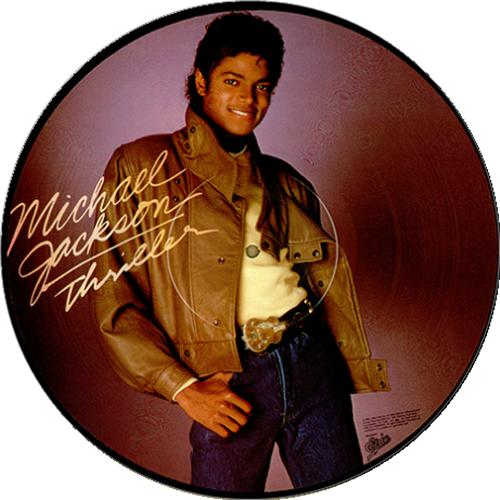 Michael Jackson Thriller picture disc LP (vinyl picture disc album) US M-JPDTH23672