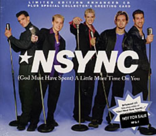 """N Sync (God Must Have Spent) A Little More Time On You CD single (CD5 / 5"""") US NSYC5GO199351"""