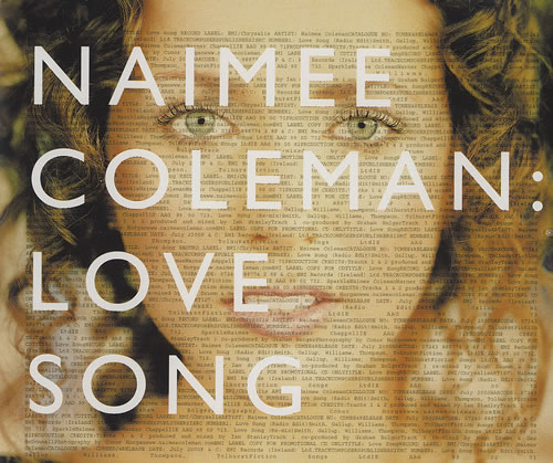 "Naimee Coleman Love Song CD single (CD5 / 5"") Irish NAIC5LO490987"