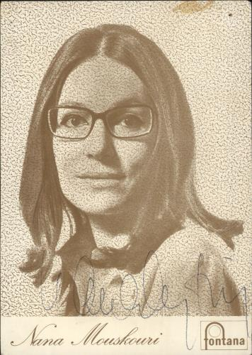 Nana Mouskouri Promotional Photo Card photograph French NNMPHPR749414