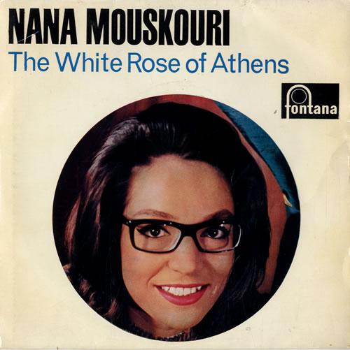 "Nana Mouskouri The White Rose Of Athens E.P. 7"" vinyl single (7 inch record) UK NNM07TH74158"