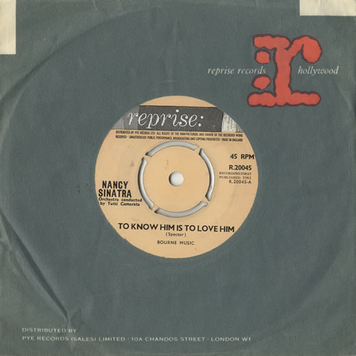 """Nancy Sinatra To Know Him Is To Love Him 7"""" vinyl single (7 inch record) UK NYS07TO478621"""