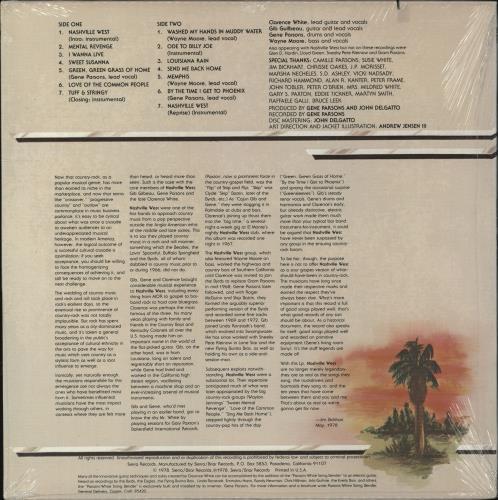 Nashville West Nashville West - Sealed vinyl LP album (LP record) US Q3ULPNA706366