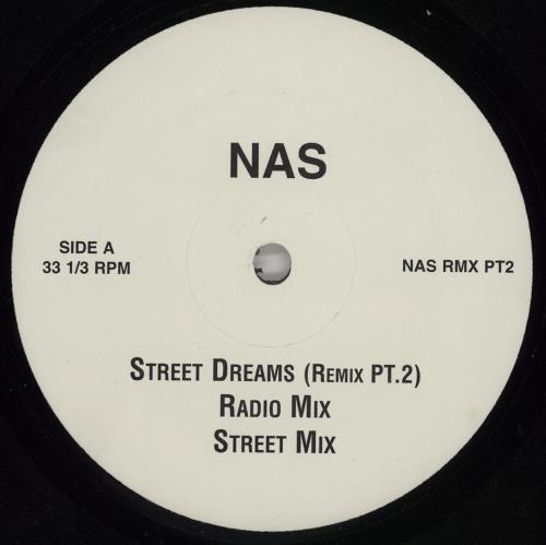 "Nas Street Dreams (Remix Pt. 2) 12"" vinyl single (12 inch record / Maxi-single) UK N-S12ST758597"