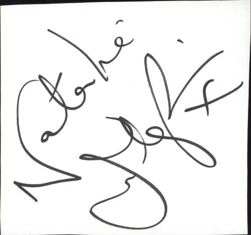 Natalie Imbruglia Autograph memorabilia UK NTLMMAU714735