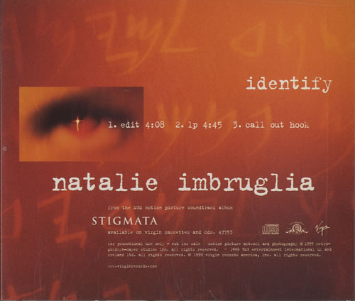 "Natalie Imbruglia Identify CD single (CD5 / 5"") US NTLC5ID143845"