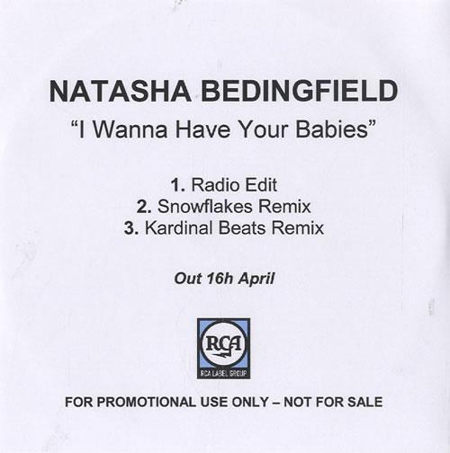 Natasha Bedingfield I Wanna Have Your Babies CD-R acetate UK NBDCRIW460460