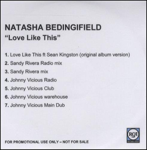 Natasha Bedingfield Love Like This CD-R acetate UK NBDCRLO430611