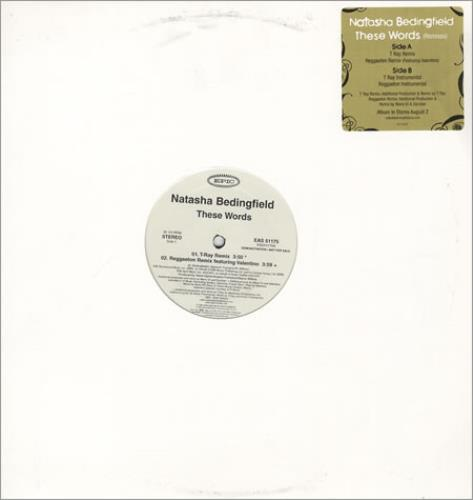 "Natasha Bedingfield These Words (Remixes) 12"" vinyl single (12 inch record / Maxi-single) US NBD12TH409876"
