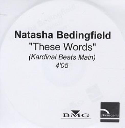 Natasha Bedingfield These Words CD-R acetate UK NBDCRTH308351