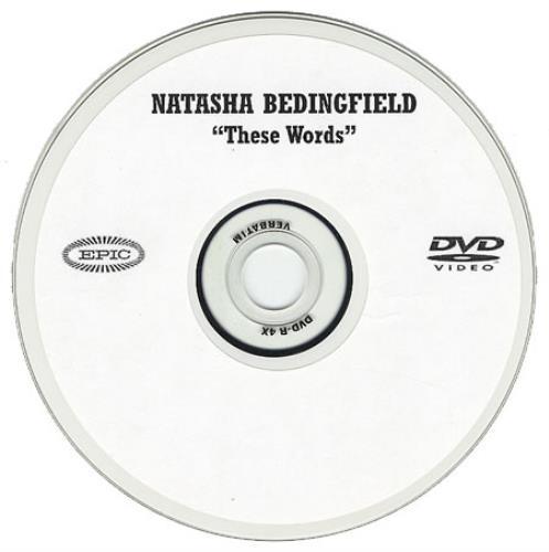 Natasha Bedingfield These Words promo DVD-R US NBDDRTH370717