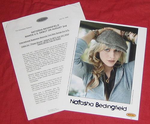Natasha Bedingfield Unwritten media press pack US NBDPPUN369258