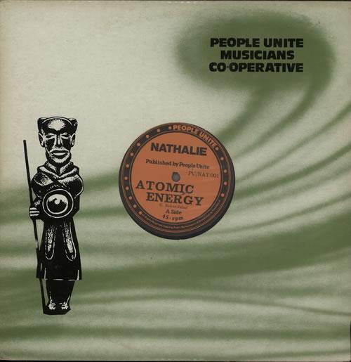 "Nathalie Atomic Energy/ Set Me Free 12"" vinyl single (12 inch record / Maxi-single) UK N8Z12AT639640"