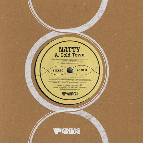 "Natty Cold Town 7"" vinyl single (7 inch record) UK NT907CO435330"