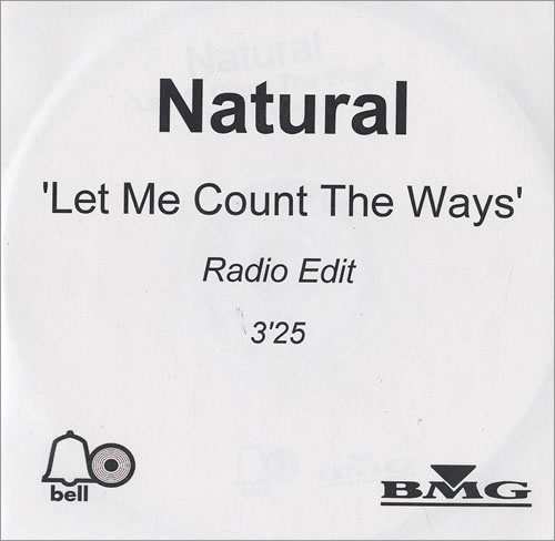 Natural Let Me Count The Ways CD-R acetate UK URLCRLE473518